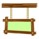 Estruturas de madeira em correntes. Imagem de Stock Royalty Free