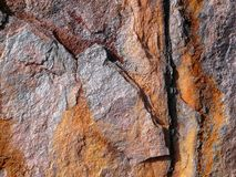Estruturas do ferro oxidado fotos de stock
