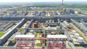 Estruturas esticadas ao longo do território da companhia do gás filme