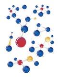 Estruturas moleculars Imagem de Stock