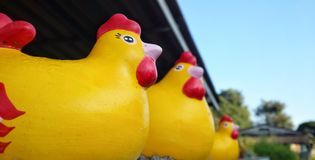 Estátua da galinha Fotos de Stock