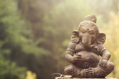 Estátua da pedra da deidade de Ganesha Imagem de Stock Royalty Free