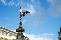 A estátua de Alfred Gilbert do Eros em Piccadilly Fotos de Stock Royalty Free