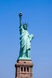 Estátua de liberdade & de por do sol de New York City Imagem de Stock