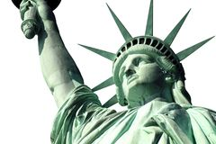 Estátua de liberdade isolada no branco Fotografia de Stock Royalty Free