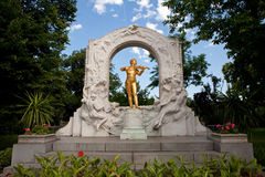 Estátua de Mozart Imagem de Stock