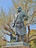 Estátua de Saigo Takamori no parque de Ueno, Japão Fotografia de Stock Royalty Free