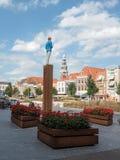 Estátua de um escritor imaginário inexistente em Vlissingen Imagens de Stock Royalty Free