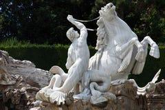 Estátua de um triton Fotografia de Stock