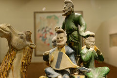 Estátua do músico de Ásia central antiga Imagem de Stock