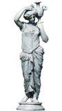 Estátua grega da mulher isolada Imagens de Stock