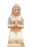 Estátua rezando da menina Fotografia de Stock Royalty Free