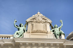 Estátuas decorativas no telhado de Monte Carlo Casino Fotografia de Stock