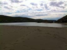 Estuário da praia do vale Imagem de Stock Royalty Free