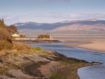 Estuário de Dyfi da ilha do piquenique Imagens de Stock Royalty Free