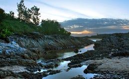 Estuário de Sawtell, Austrália no crepúsculo Fotos de Stock Royalty Free