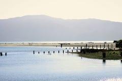 Estuário de Waikanae, Kapiti, Nova Zelândia Imagens de Stock
