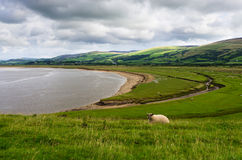 Estuaire de Duddon de Dunnerholme Photo stock