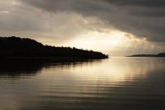 Estuaire de Falmouth au crépuscule images libres de droits
