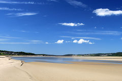 Estuaire de Kent de fleuve chez Sandside, Cumbria Photographie stock