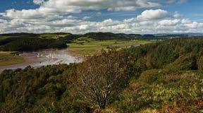 Estuaire de l'eau d'Urr Photographie stock libre de droits