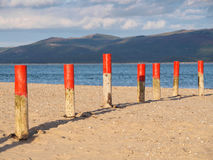Estuaire et nuages de Dyfi Photos libres de droits