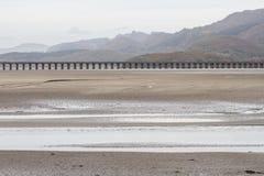 Estuaire et viaduc de Mawddach image libre de droits