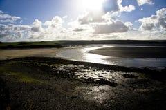 Estuario alla marea bassa Fotografia Stock