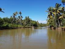 Estuario del Kerala Immagine Stock Libera da Diritti