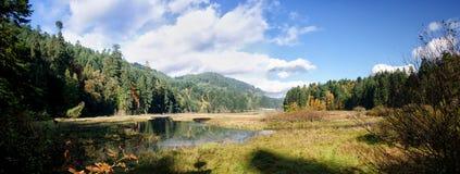 Estuario del río, Canadá Foto de archivo libre de regalías