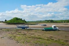 Estuario del río de Aln en Alnmouth imagen de archivo libre de regalías