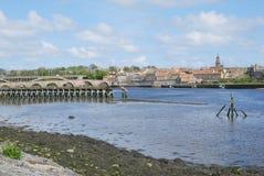 Estuario del tweed del río en Berwick sobre tweed imagen de archivo libre de regalías