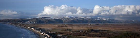 Estuario di Dyfi in inverno Fotografie Stock