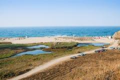 Estuario di Veleka in Sinemorets Bulgaria, Europa Fotografia Stock