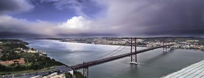 Estuario e ponte Fotografia Stock