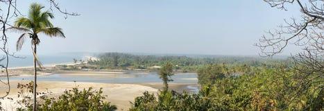Estuario in Goa Immagine Stock Libera da Diritti
