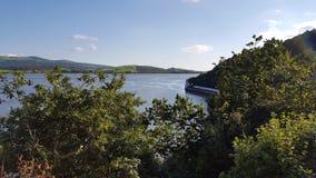 Estuario País de Gales de Portmerion Imagenes de archivo