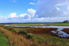 Estuariumlandschap Royalty-vrije Stock Foto's