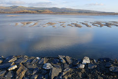 Estuary, Borth y Gest. Royalty Free Stock Images