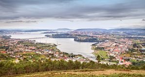 Estuary Ferrol in Spain Stock Images