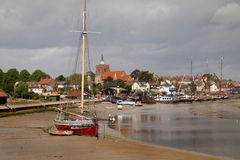 Estuary Harbour at Maldon. The estuary harbour and town of Maldon in Essex England Stock Image