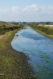 Estuary at low-tide. Estuary at Milford-on -Sea Hampshire Stock Photo