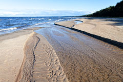 Estuary Of Little River In Baltic Sea. Stock Photography