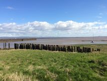 Estuary and Old Pier Stock Photography