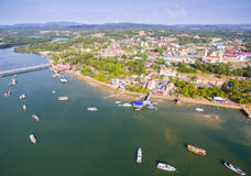 Estuary town marang terengganu malaysia Stock Image