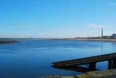 Estuaryto Spittal del tweed del río fotos de archivo libres de regalías