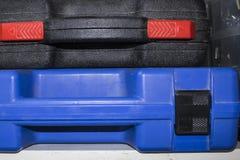 Estuches de plástico para las herramientas eléctricas Fotografía de archivo