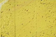 Estuco amarillo Fotografía de archivo libre de regalías
