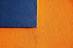 Estuco anaranjado y azul 3 Imágenes de archivo libres de regalías