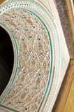 Estuco de Marrakesh del palacio de Bahía Fotografía de archivo